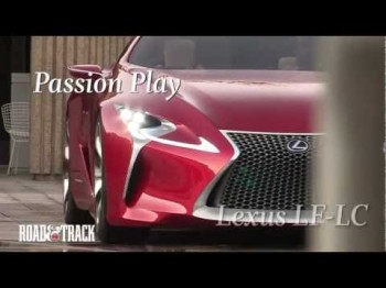 The Lexus LF-LC Hybrid Sports Coupe Concept Car
