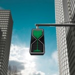 Sand Glass LED Traffic Light by Thanva Tivawong