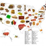 Map of Foods That Best Represent Each 50 States