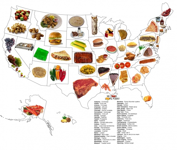 LimeWedge.net Map of Foods That Best Represent Each 50 States on indiana map, tennessee map, arizona state map, u.s map, colorado state map, maine state map, texas state map, virginia state map, south dakota state map, louisville map, kentucky capitol building, arkansas state map, louisiana state map, new york state map, maryland state map, louisiana on us map, pennsylvania state map, tenn state map, massachusetts state map, minnesota map,