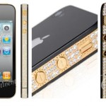 24K Gold and Diamond Crusted iPhone 4
