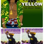 Lil Wayne Green and Yellow – Post Super Bowl Cheese Head Picture