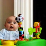 Baby Get's a Laugh and a Scare from Mom Blowing Nose [Video]