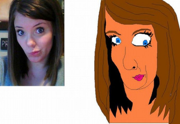 Warning Hilarious Face Drawings from a Dating Site Troll
