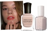 Above, from left: Karen Walker Spring 2011 image via CND; Deborah Lippmann Nail Polish in Naked, $16, available in mid-January at Deborah Lippmann; Essie Nail Polish in Sand Tropez, $8, available in February at Essie.