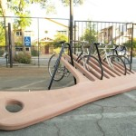 Creative Bike Rack Shaped Like a Comb