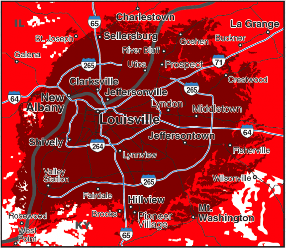 Verizon's Louisville 4G LTE Coverage Map Revealed [Technology