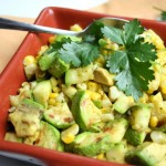 Grilled Zucchini Corn Salad with Cilantro Lime Vinaigrette