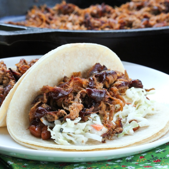 BBQ Carnitas Tacos from White Duck Taco Shop
