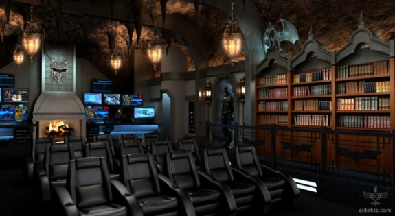 The Dark Knight Themed Home Theater by Elite Homes