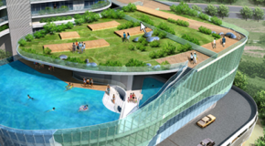 Aquaria Grande Tower Replaces Balconies with Glass Pools