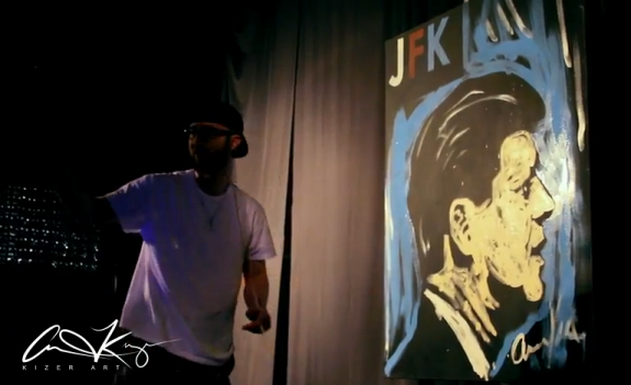 JFK Speed Painting x Kizer Arts