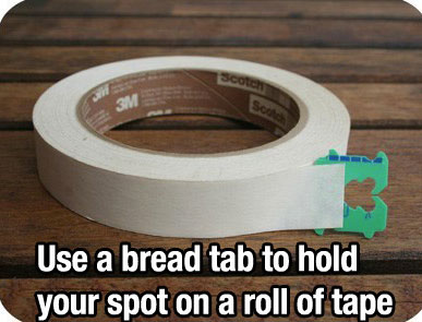 Life Hack - Bread Tab Tape Spot
