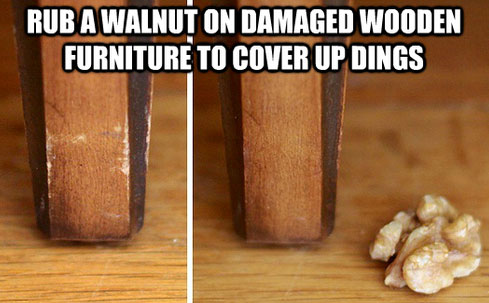 Life Hack - Covering Furniture DIngs