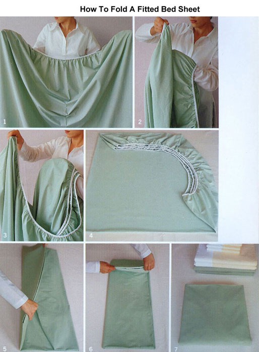 Life Hack - Fold a Fitted Sheet