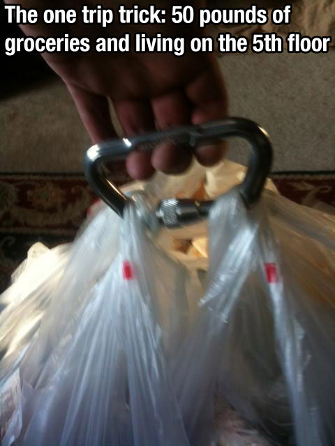 Life Hack - Grocery Bags Clip