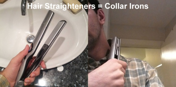 Life Hack - Hair Straighteners Collar Iron
