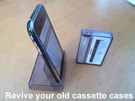 Life Hack - Old Cassette Phone Holder
