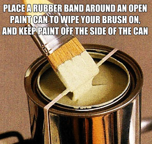 Life Hack - Paint Can Rubber Band