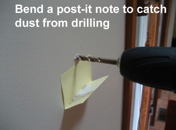 Life Hack - Post It Note Catch Dust