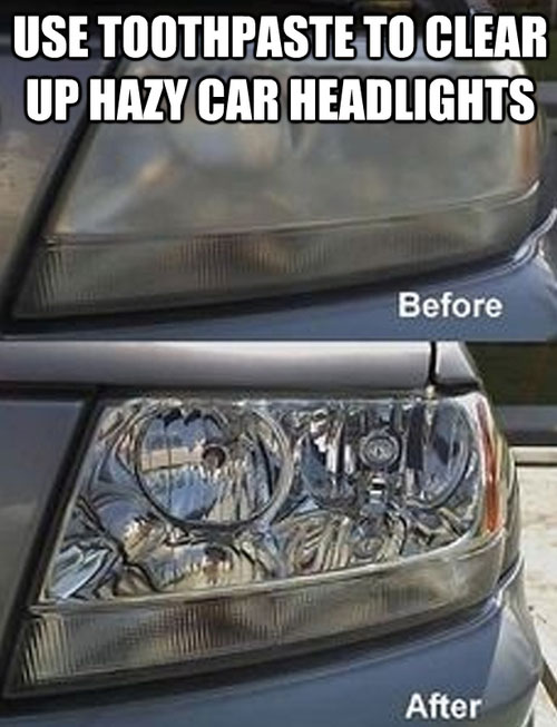 Life Hack - Toothpaste Headlights