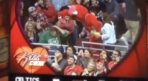 Benny The Bull Steals Celtic's Fan GF – Bulls vs Celtics Kiss Cam FAIL