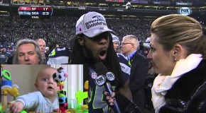 Baby Reacts to Richard Sherman and Erin Andrews Interview