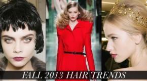 Fall Winter 2013 Women's Hair Style Trends