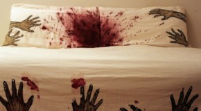 Never Sleep Alone – Zombie Bed Sheets by Melissa Christie